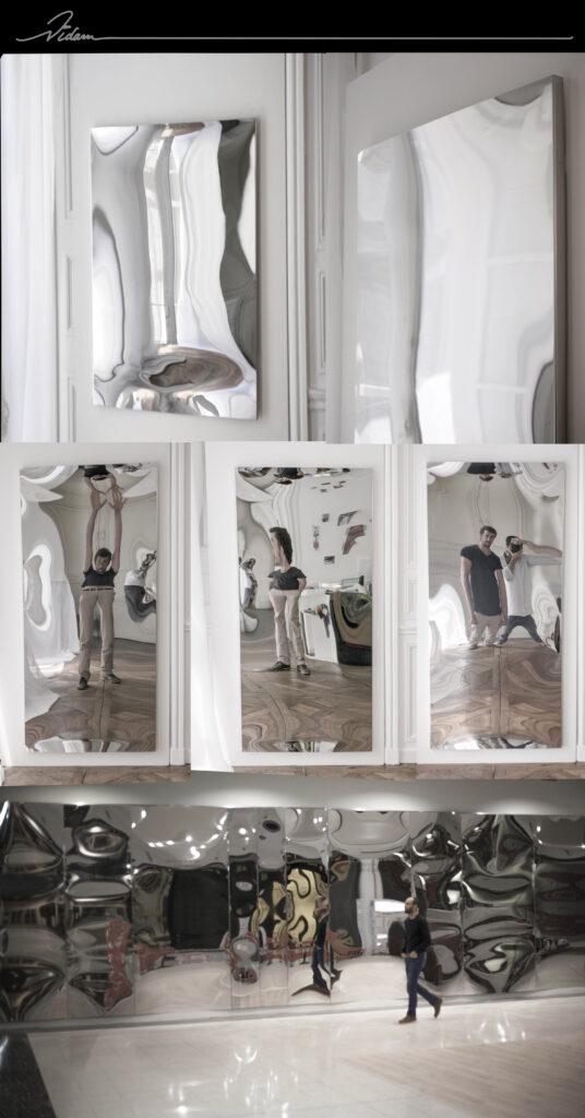 miroirs inox plats mais déformants par VIDAME CREATION